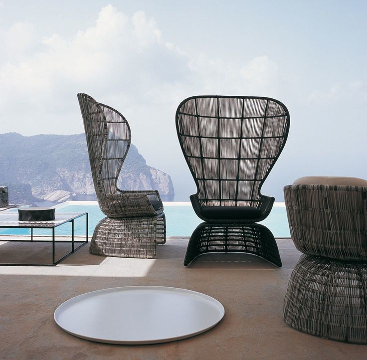 CRINOLINE ARMCHAIR WITH HIGH BACK Designed By Patricia Urquiola · Outdoor  ChairsOutdoor ...