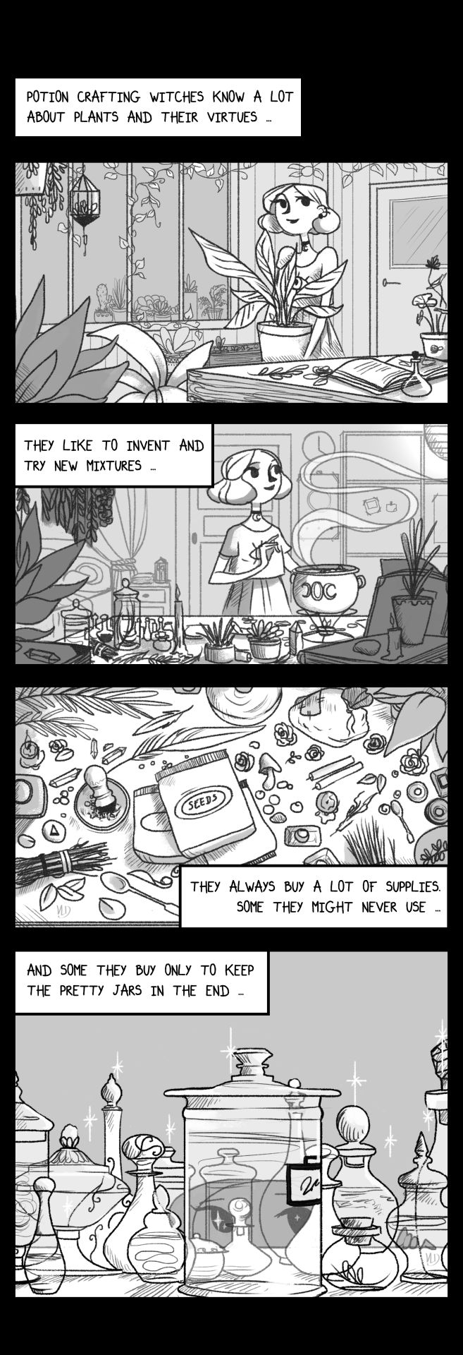 "modernwitchesdaily: "" Modern Witches Daily - Potion Crafting. Here is a new page ! (at last) It's about potion crafting witches and what I could read about their funny habits ~ And sometimes I relate myself to this sooo much ! I hope you'll like it !..."