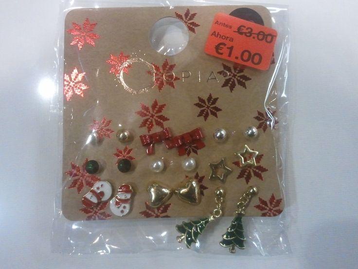 Nueve pares de pendientes navideños a tan sólo 1 euro en # ...