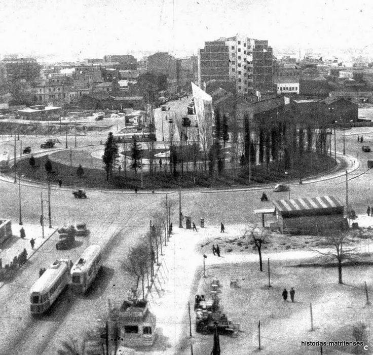 Plaza de Castilla vista desde la calle Mateo Inurria. Año 1964. Foto: Diario ABC