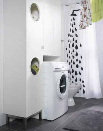 LILLÅNGEN Laundry Cabinet And Wall Cabinet Built Around A Washing Machine Part 50