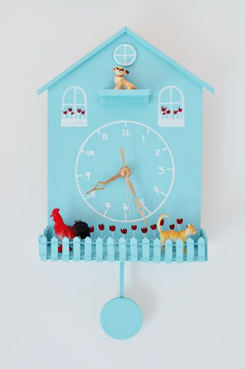 Weekly Crafty: Getting Clocked   Young House Love, super cute clock diy that I think the kids would love to do.