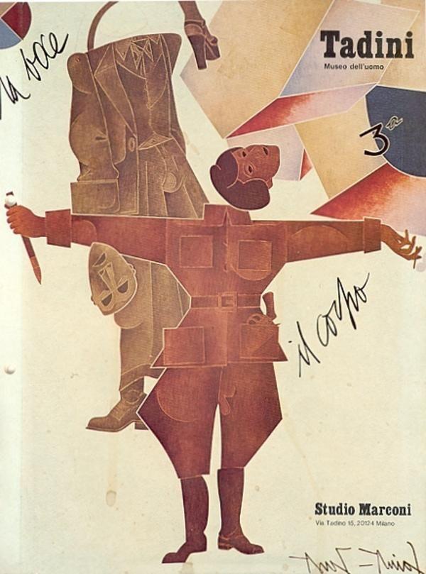 Tadini. Museo dell'uomo. Catalogo di mostra, Milano,  Studio Marconi,  giugno 1974. Scritti di Arturo Carlo Quintavalle e dell'Artista