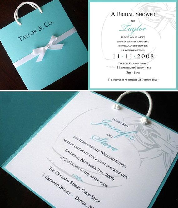 Breakfast at Tiffany's Invitation Breakfast at by alamodebride