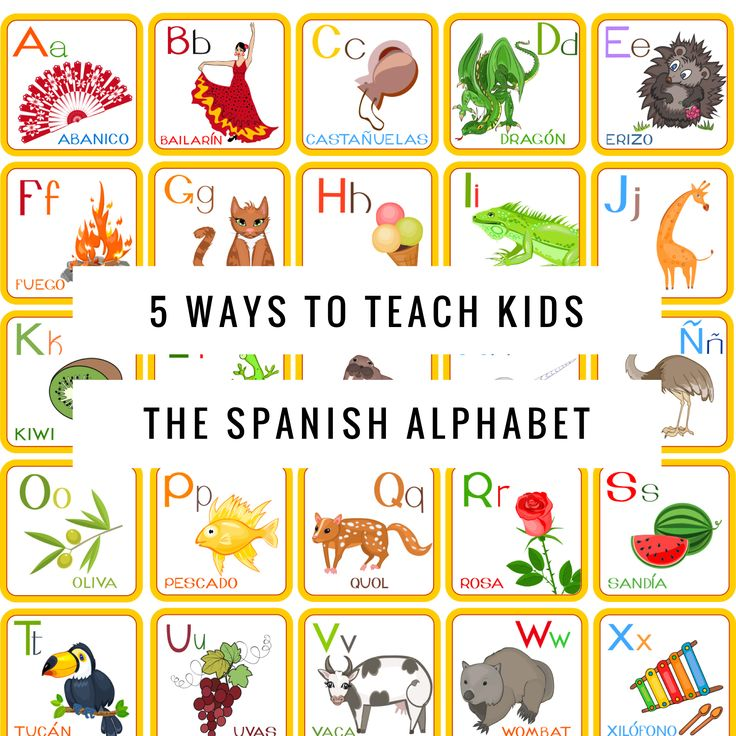 Looking for some fun, easy ways to teach kids the Spanish Alphabet? Check out this post with lots of great ideas! http://fabulousclassroom.com/…/5-ways-teach-kids-spanish-a…/