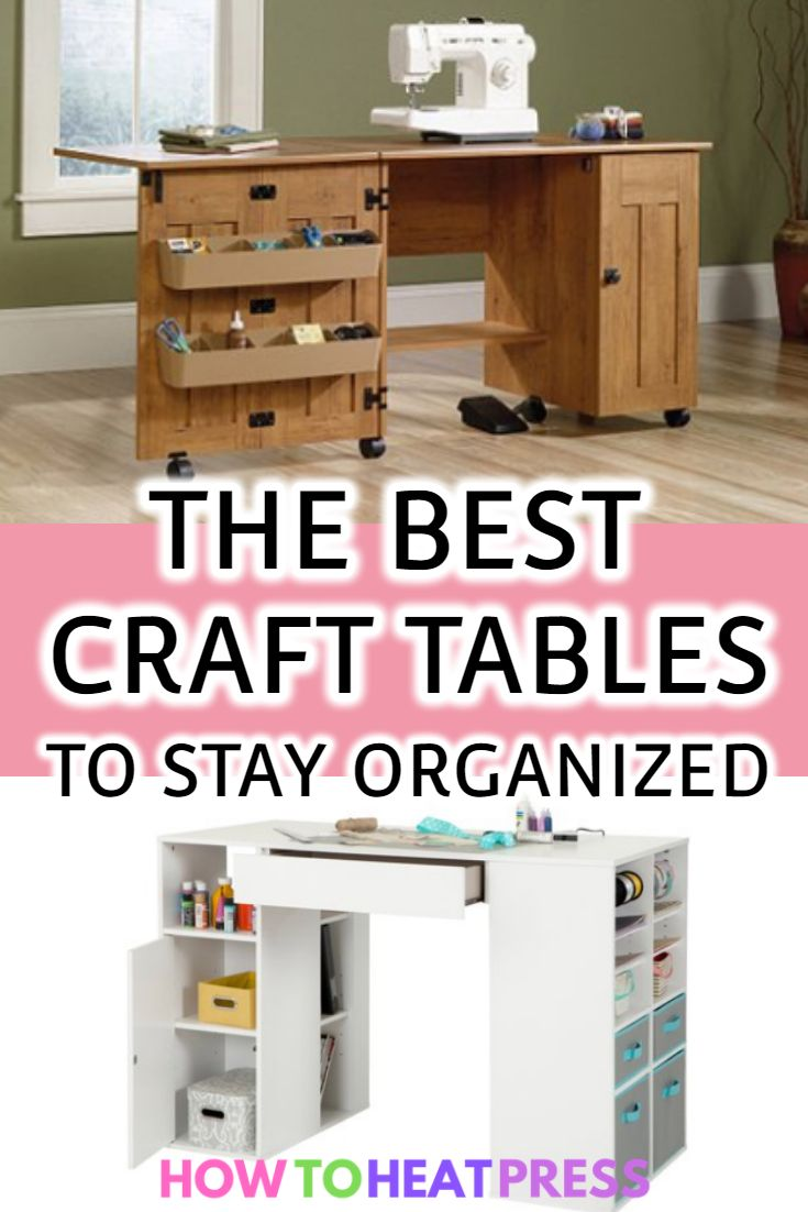 The Best Craft Tables With Storage Folding Sauder For Kids Craft Table Cricut Storage Heat Transfer Vinyl Projects