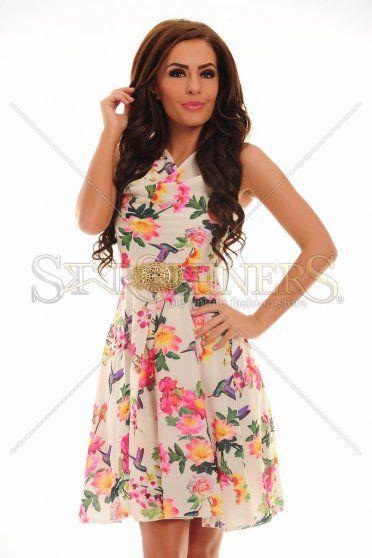 LaDonna Cheerful Lady Cream Dress