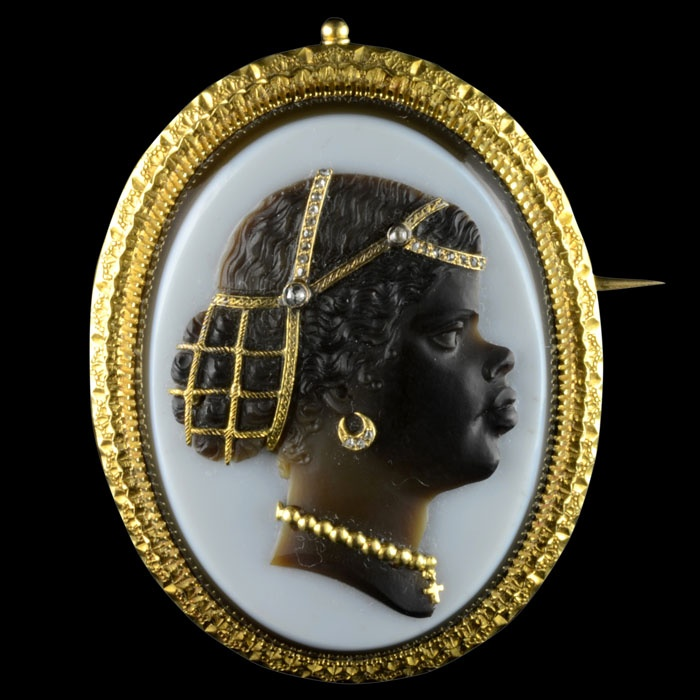 Beautiful antique Blackamoor cameo