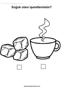 Sıcak Soğuk Kavramı, hot cold worksheets and coloring pages