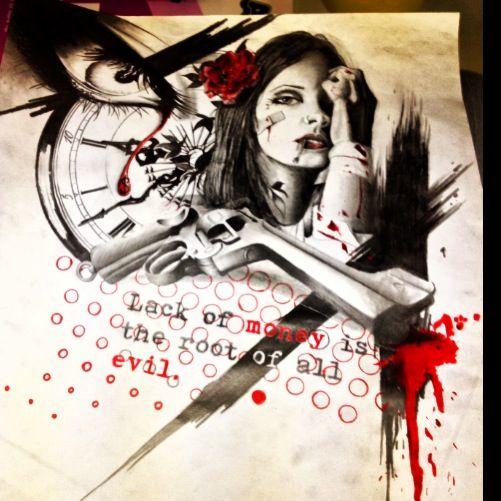 Trash Polka Skull By Mcrdesign On Deviantart: 745 Best Images About TRASH POLKA TATTOOS On Pinterest