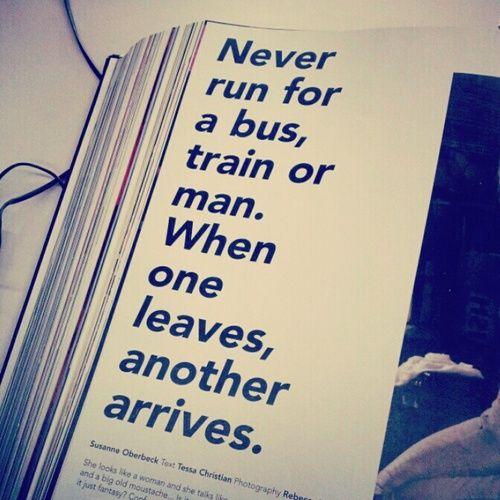 Never run...