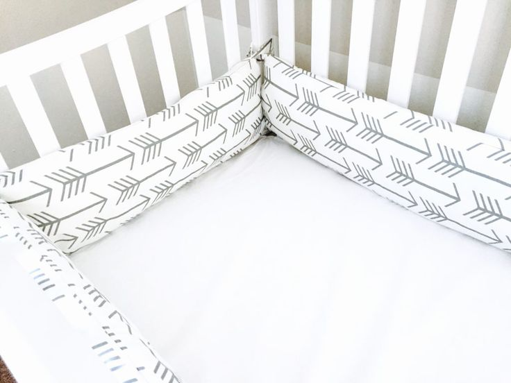 Cute crib bumpers- DIY - arrows and aztec