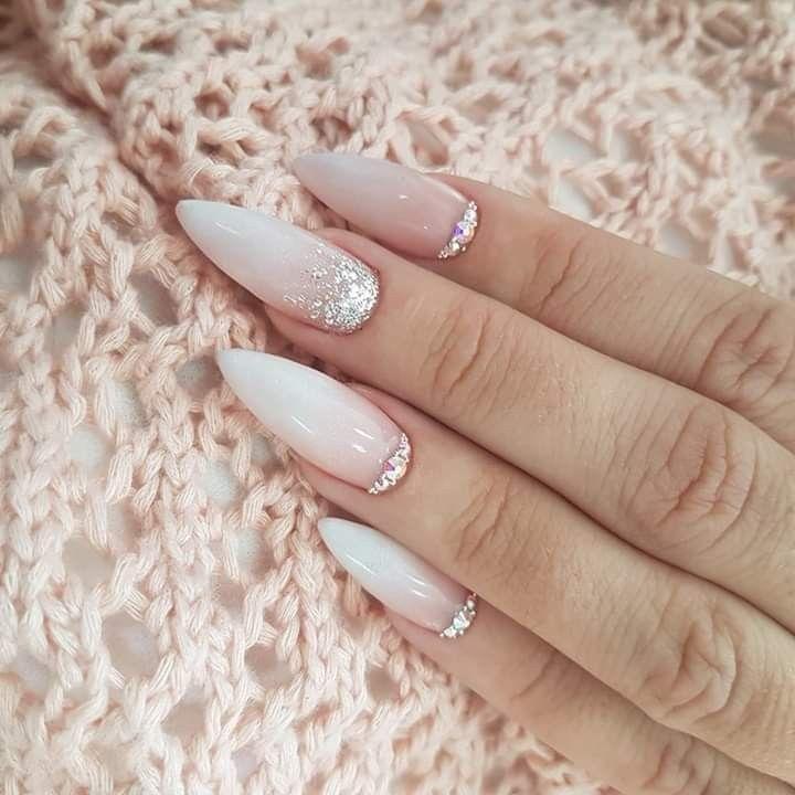 Pin By Lidkaaa On Paznokcie Bride Nails Bridal Nails Luxury Nails