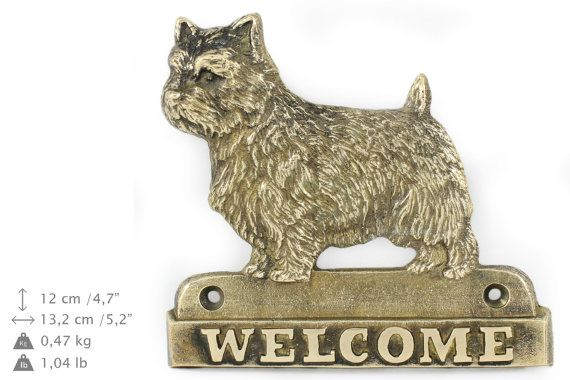 Norwich Terrier dog welcome hanging decoration by ArtDogshopcenter