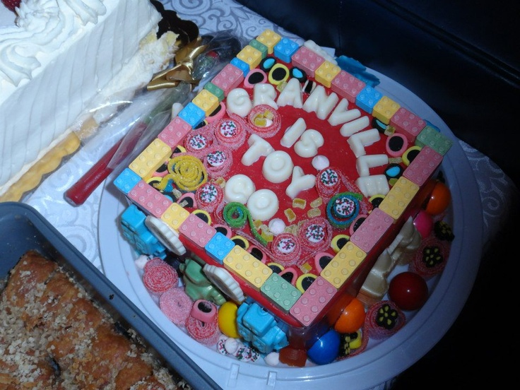 Friends of ours made us our very own Smash Cake...smash it with a hammer and candy is hidden inside!