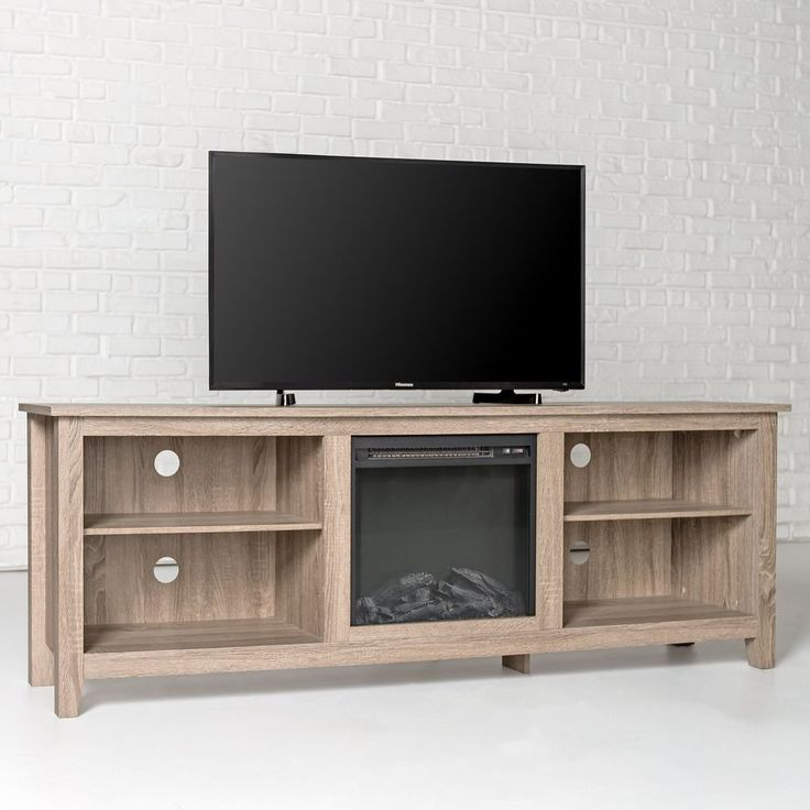 "Electric Fireplace TV Stand Heater Wooden Media Center 70"" Console New Furniture #WEFurniture"