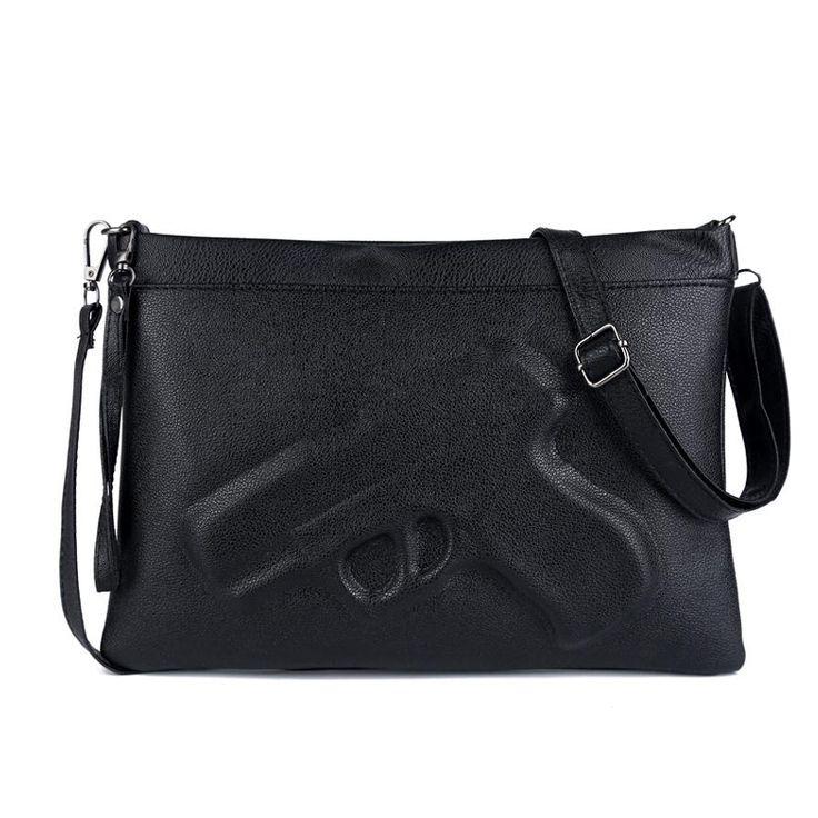 marke frauen messenger bags schulter handtaschen kupplungen 3d print leder pistole tasche damen. Black Bedroom Furniture Sets. Home Design Ideas