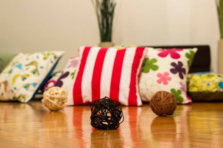 Handmade throw pillows. Lots of colors and shapes, each one telling a story on their own.  Materials: Creton  Pillow inserts included  Made to order