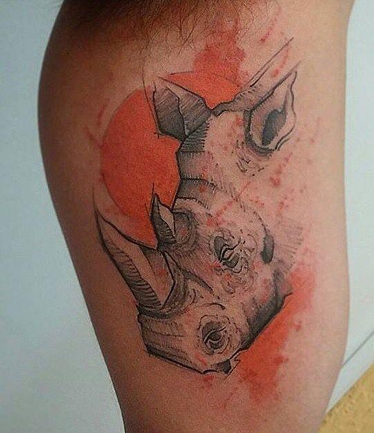 Victor Zanotto rhino tattoo