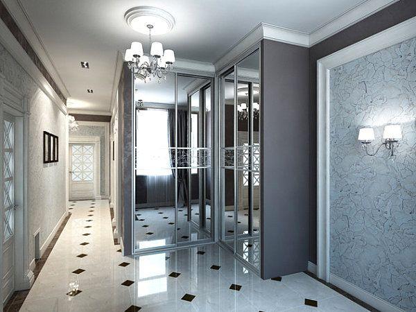 Mirrored doors in the hallway Modern Spaces with Mirrored Closet Doors