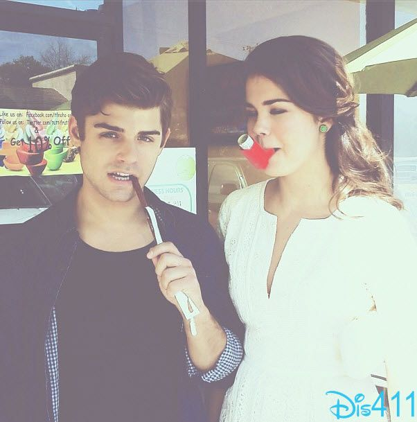 Maia Mitchell And Garrett Clayton Hanging Out March 28, 2013
