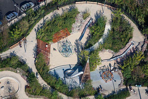 1. Parques recolectores de agua de lluvias, New York.  #Arquitectura #Sustentable