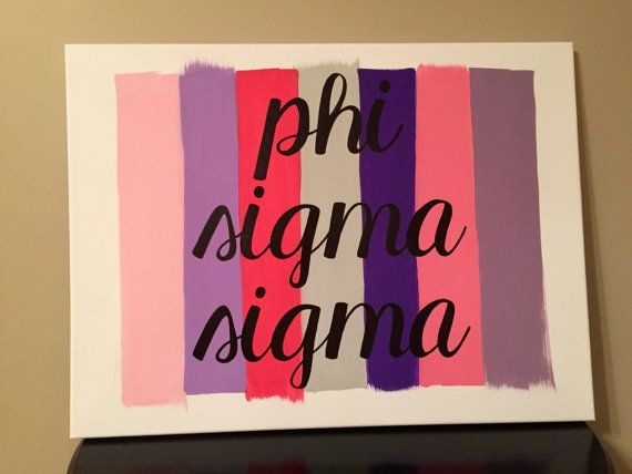 Paint Stroke Sorority Canvas: Phi Sigma Sigma // Greek Canvas // Sorority Canvas