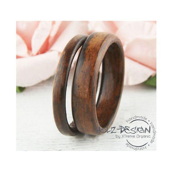 Palisander Bentwood Eheringe Partnerring Holz Ring von Holz - Design by XTreme Organic auf DaWanda.com