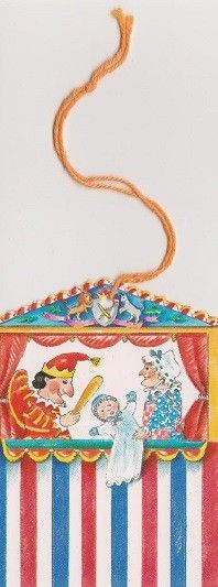 """Etiquettes cadeaux enfants """"Guignol""""  sur http://www.carterie-poitiers.com/papeterie-etiquettes/1415-etiquettes-cadeaux-enfants-theatre-de-guignol.html"""