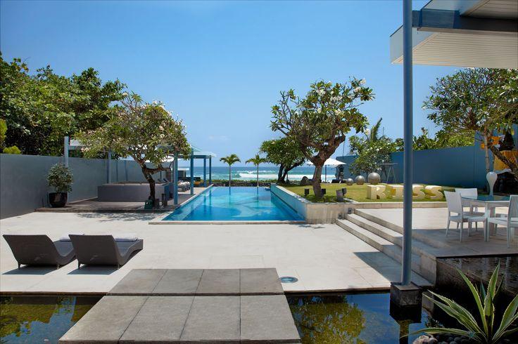 Luna2 private hotel, Bali. Beachfront view. Architecture design by David Wahl & Melanie Hall. #architecture #60s #design #melaniehall #melaniehalldesign #bali #beachfront