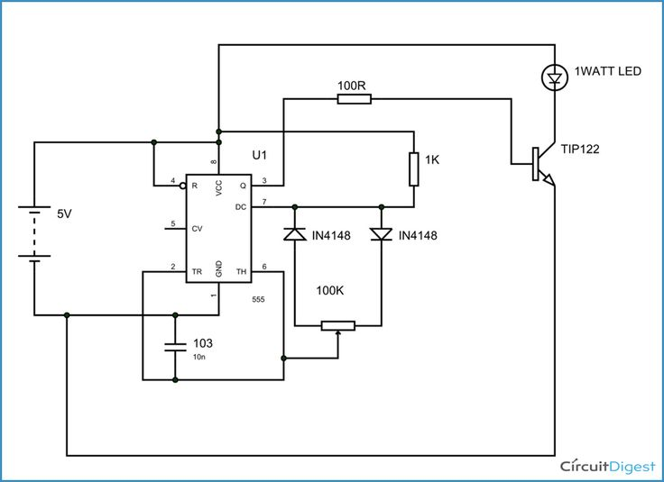 1 Watt LED Dimmer Circuit Diagram | Electronic Circuits ...