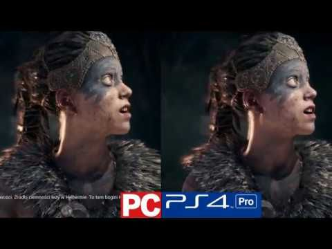 Hellblade Sensua's Sacrifice - PS4 PRO vs PC Ultra Settings Graphics Com...