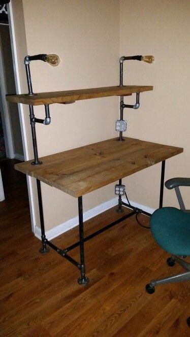 Best 25+ Pipe desk ideas on Pinterest   Industrial desk ...