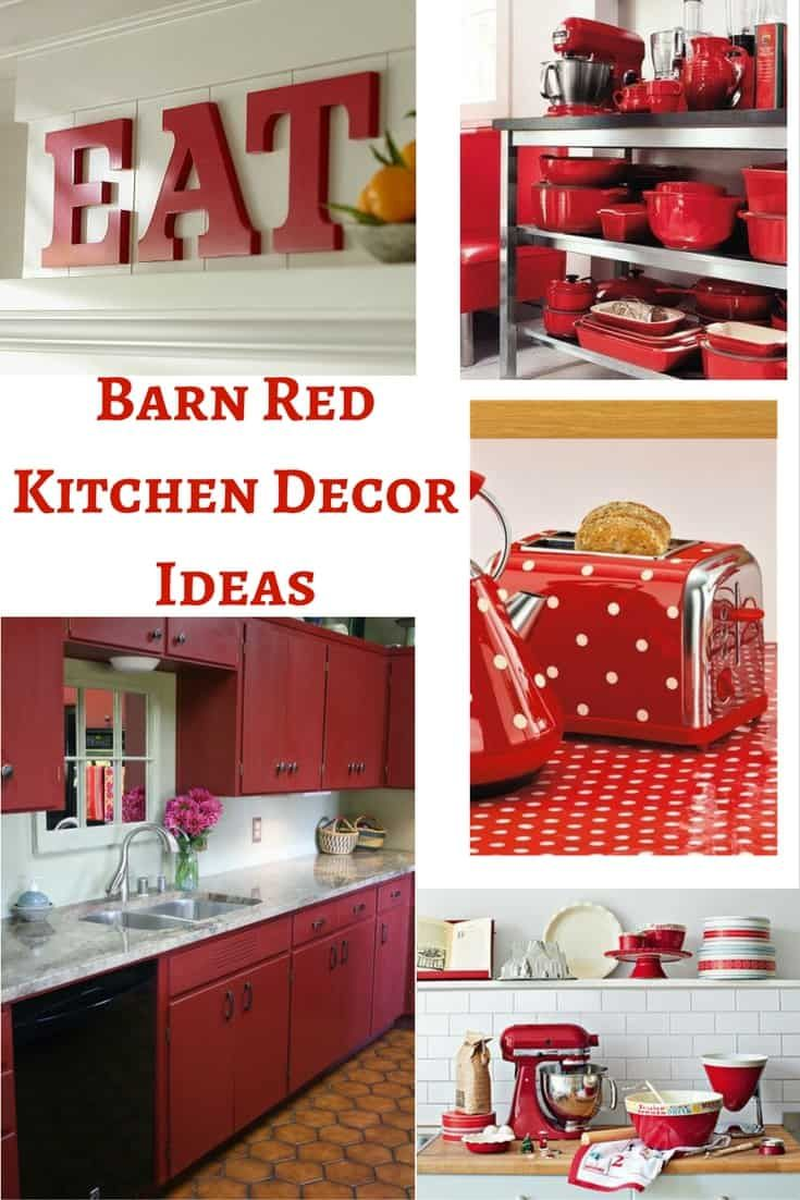 Barn Red Kitchen Decor Ideas Black Items