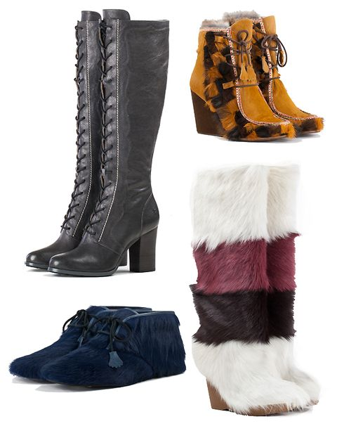Check out the boots from Anna Sui's collection for Frye.