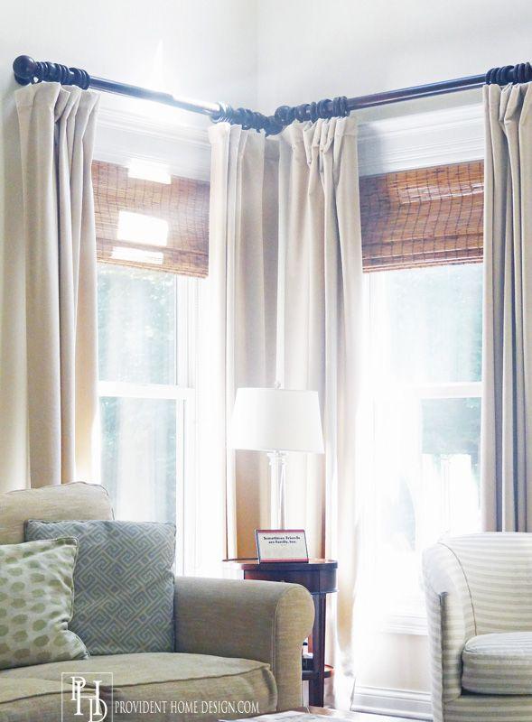 25 best ideas about corner window treatments on pinterest for Best window treatments for casement windows