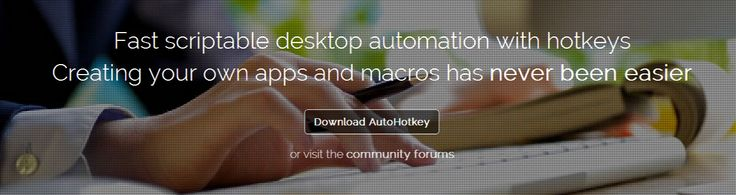 AutoHotkey: macro and automation Windows scripting language