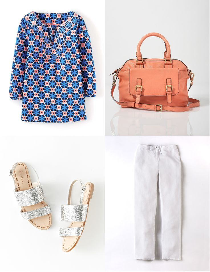 soft leather Bowling Bag is now £97.30 in the Boden sale… pair with a lightweight tunic and linen trousers