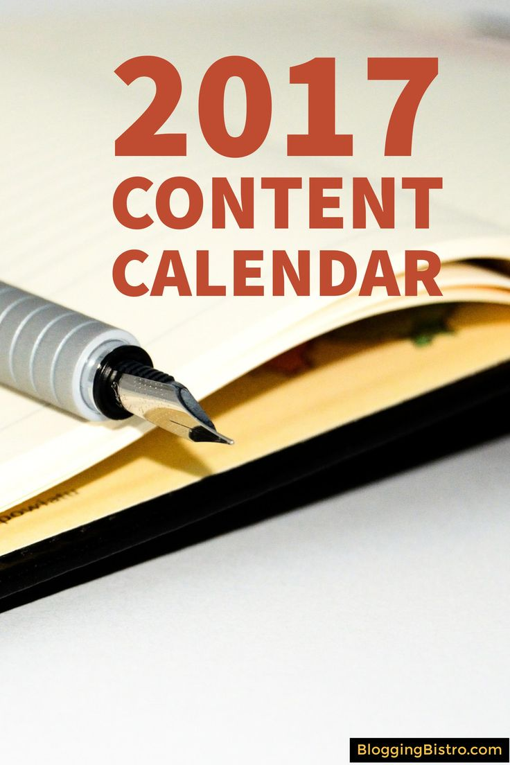 FREE download: 2017 Content Calendar template. Perfect for crafting and managing all your social media updates throughout the year.