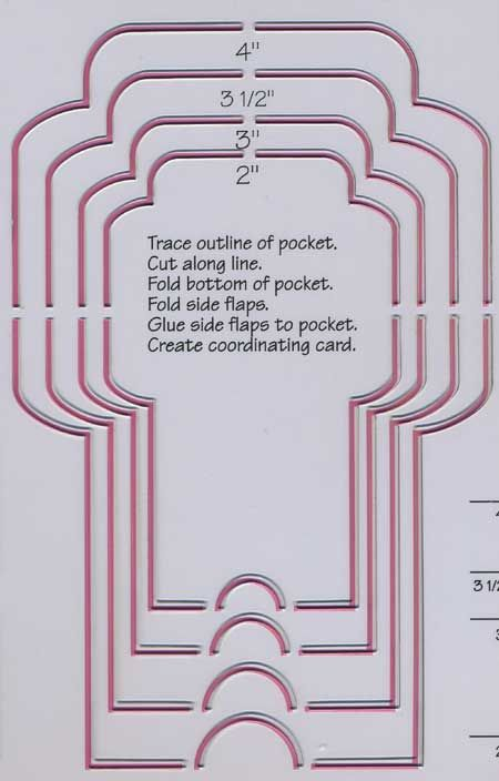 library card pocket template | Envelope Template - [TEM-105] Library Pocket and Matchbook Card