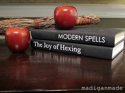 Turn old books into spooky decor ~ Madigan Made { simple DIY ideas }
