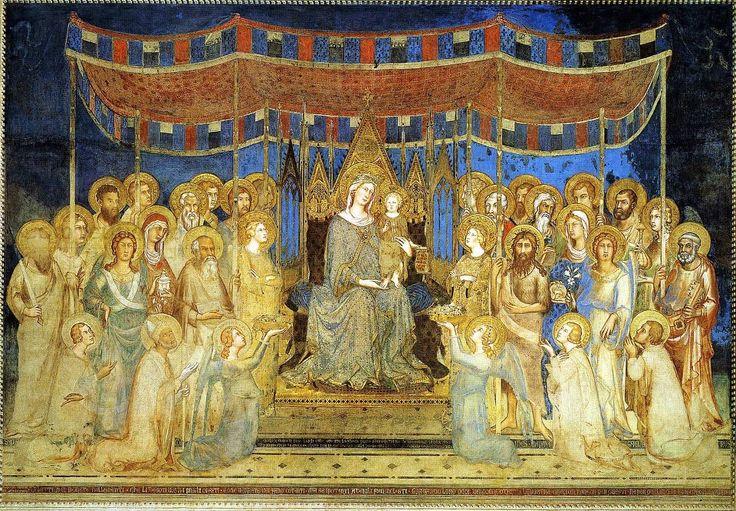 Simone Martini  Maestà (1312-1315) Palazzo pubblico - sala del Mappamondo