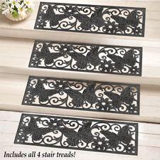 Best Set Of 4 Butterfly Scroll Pattern Black Rubber Outdoor 400 x 300