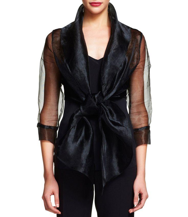 Adrianna Papell Organza Wrap Jacket #Dillards