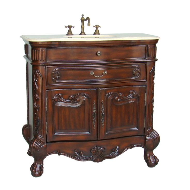 This solid wood classic Adelina 36 inch Antique Wood Construction Bathroom  Vanity is the best choice - 31 Best Vintage Bathroom Vanities Images On Pinterest Vintage