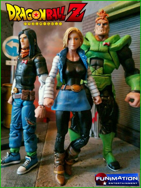 DBZ Android # 17, 18 and 16 (Marvel Legends Style) (Dragonball Z) Custom Action Figure