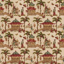 Henna Asian Drapery and Upholstery Fabric by Fabricut