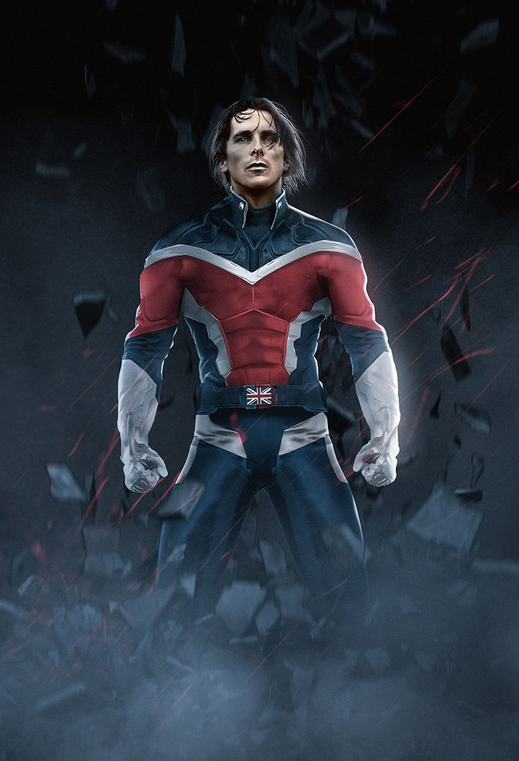 FAN-ART: Here's What Former BATMAN Christian Bale Would Look Like As CAPTAIN BRITAIN