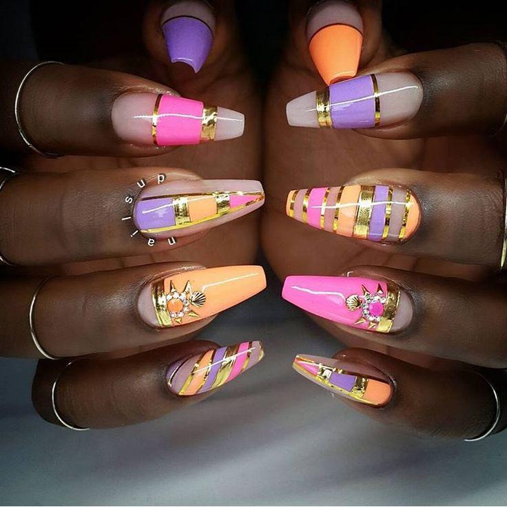 297 best images about Nail Art on Pinterest | Orange ...