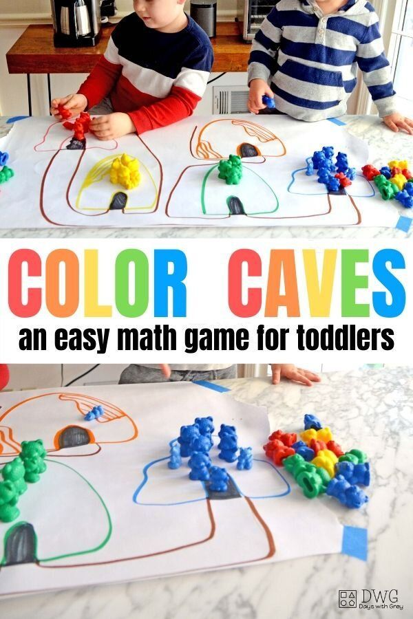 Bear Caves Color Sort Days With Grey In 2020 Easy Math Activities Toddler Math Math Activities For Toddlers